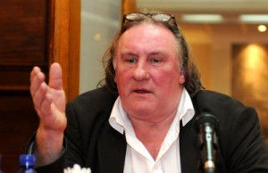 French actor Gerard Depardieu in Podgorica